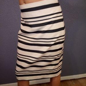J.Crew 2 Striped Knee Length Pencil Skirt NWOT